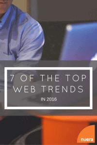 Top Web Trends in 2016