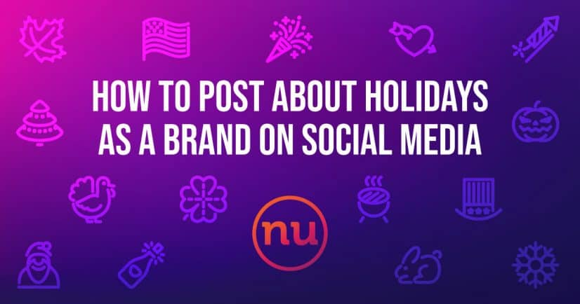 posting about holidays as a brand on social media